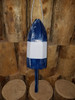 "Wooden Lobster Buoy - 21"" - Blue with White Band"