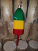 "Wooden Lobster Buoy 21"" - Green Yellow Red"