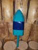 """Wooden Lobster Buoy - 21"""" - Teal with Blue Band"""