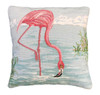 American Flamingo Mixed Stitched Pillow