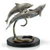Triple Dolphins on a Marble Base