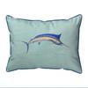 Blue Marlin Teal Pillows