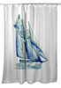 Blue Sailboat Shower Curtain