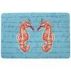 Coral Seahorses Door Mat