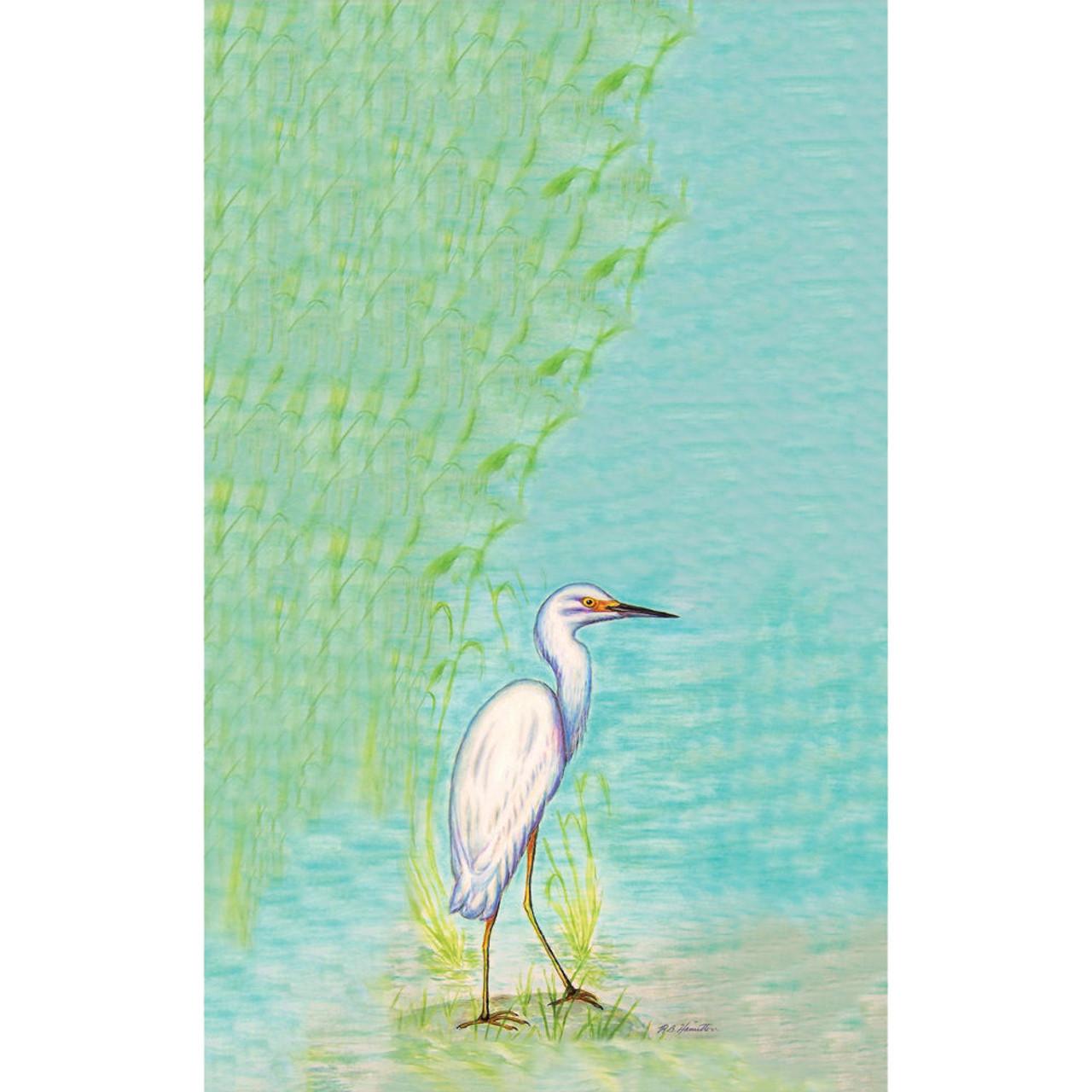 Snowy Egret Beach Towel