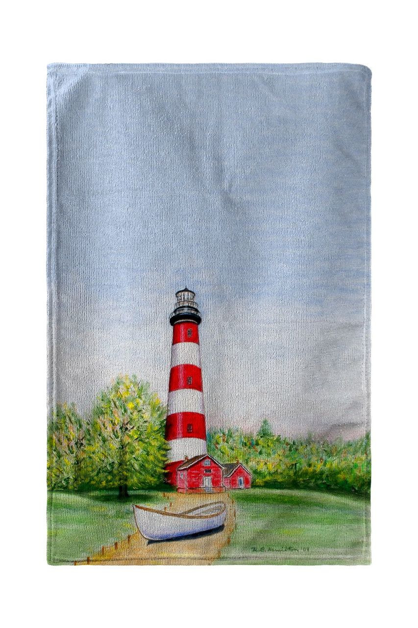 Chincoteague Lighthouse, VA Beach Towel