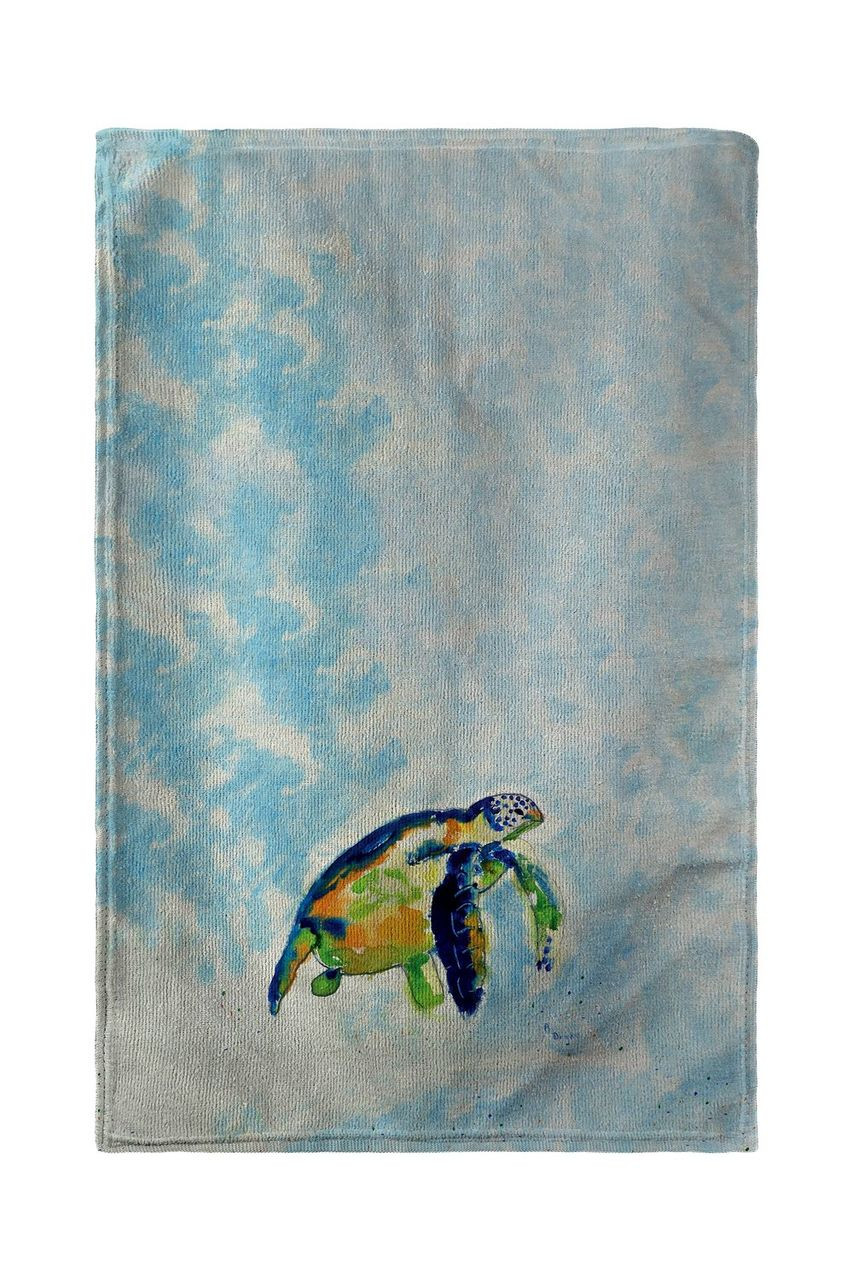 Blue Sea Turtle Beach Towel