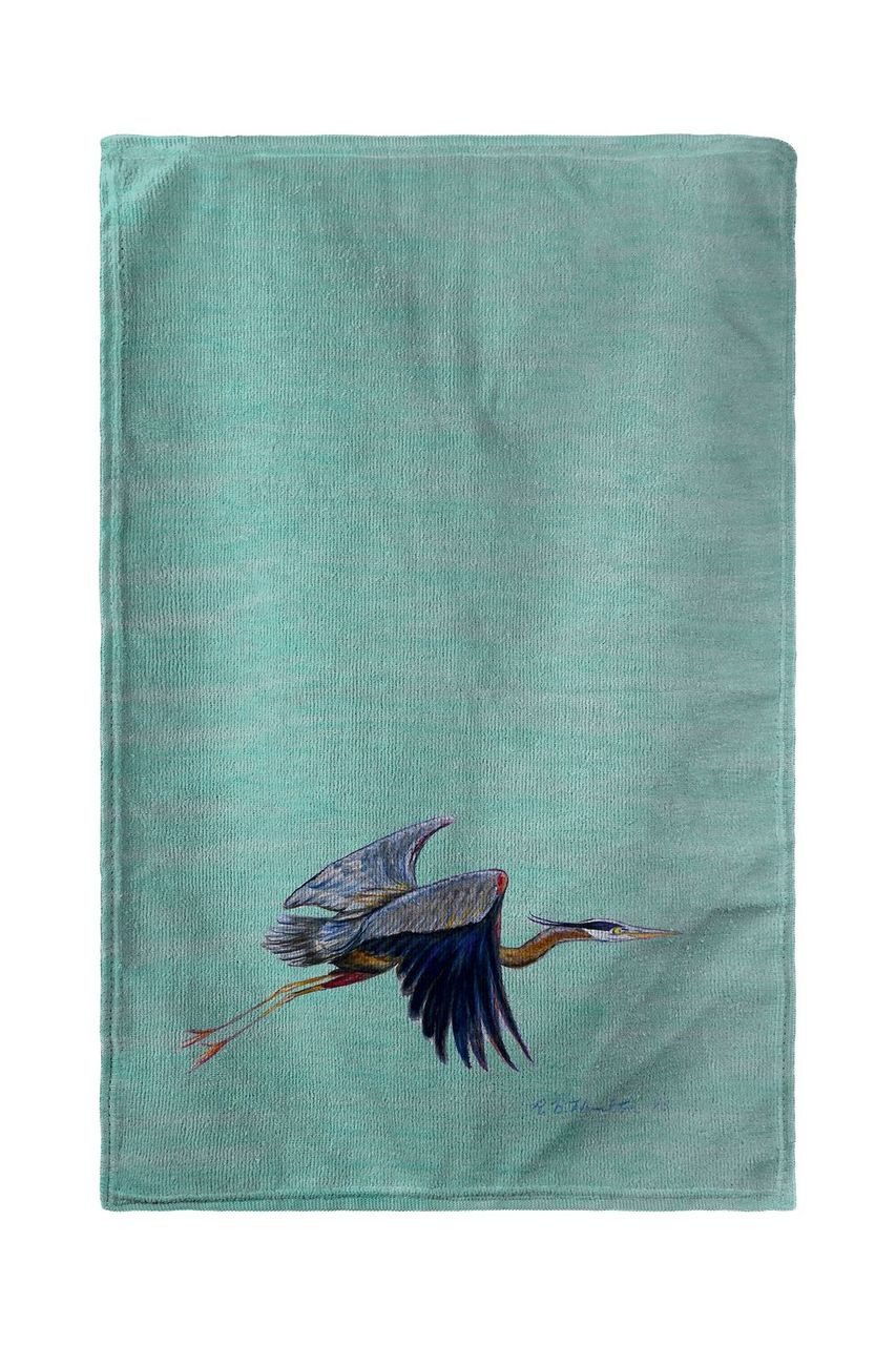 Aqua Eddie's Blue Heron Beach Towel
