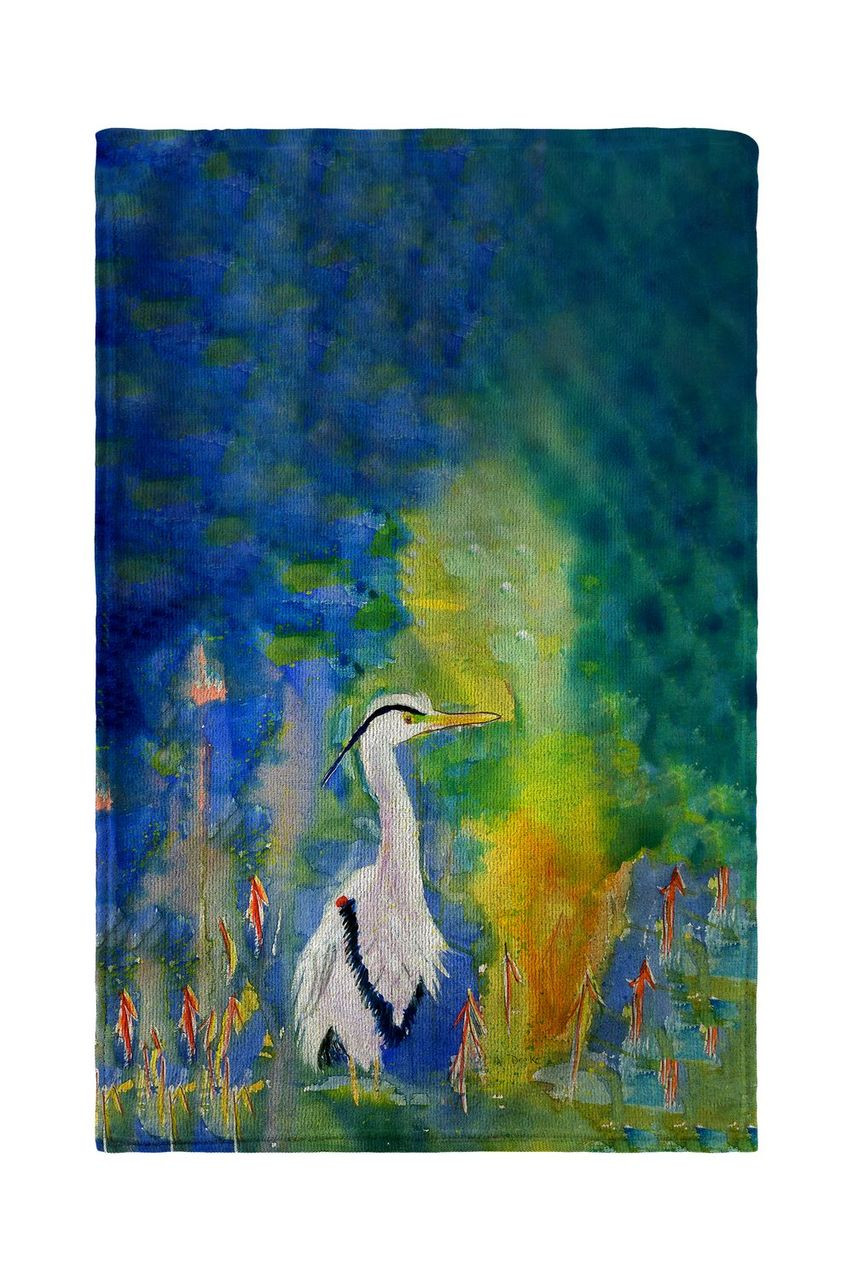 D and B's Blue Heron Beach Towel