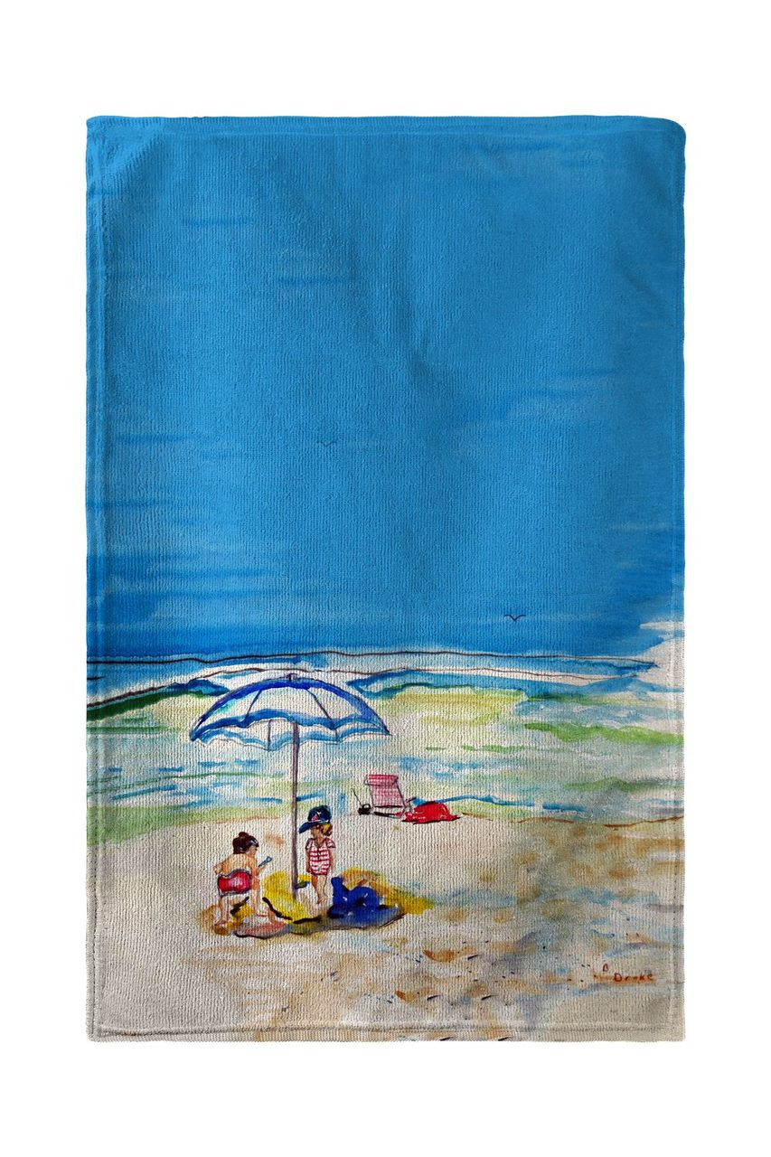 Playing On The Beach Beach Towel