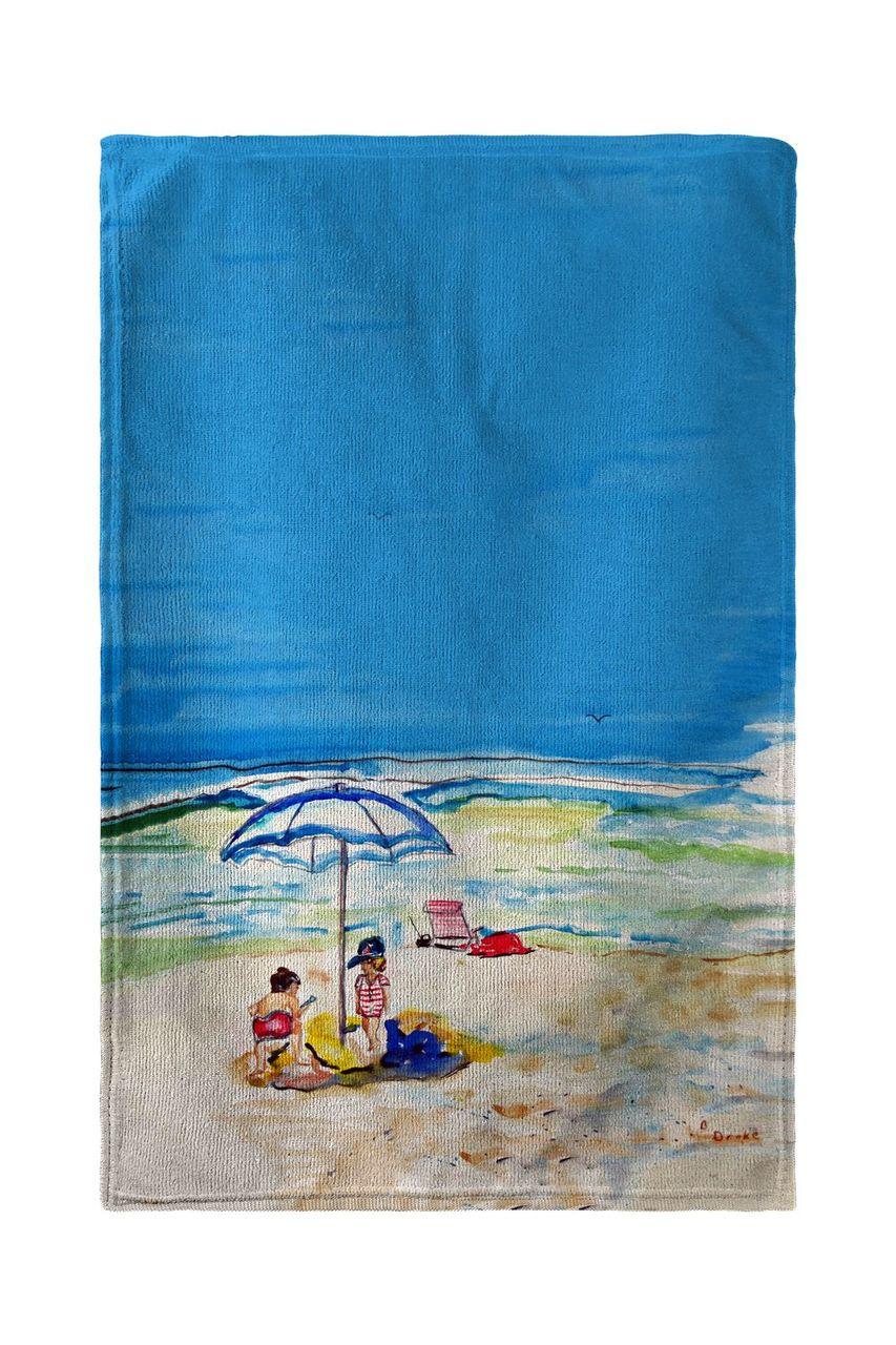 Playing On The Beach Beach Towel