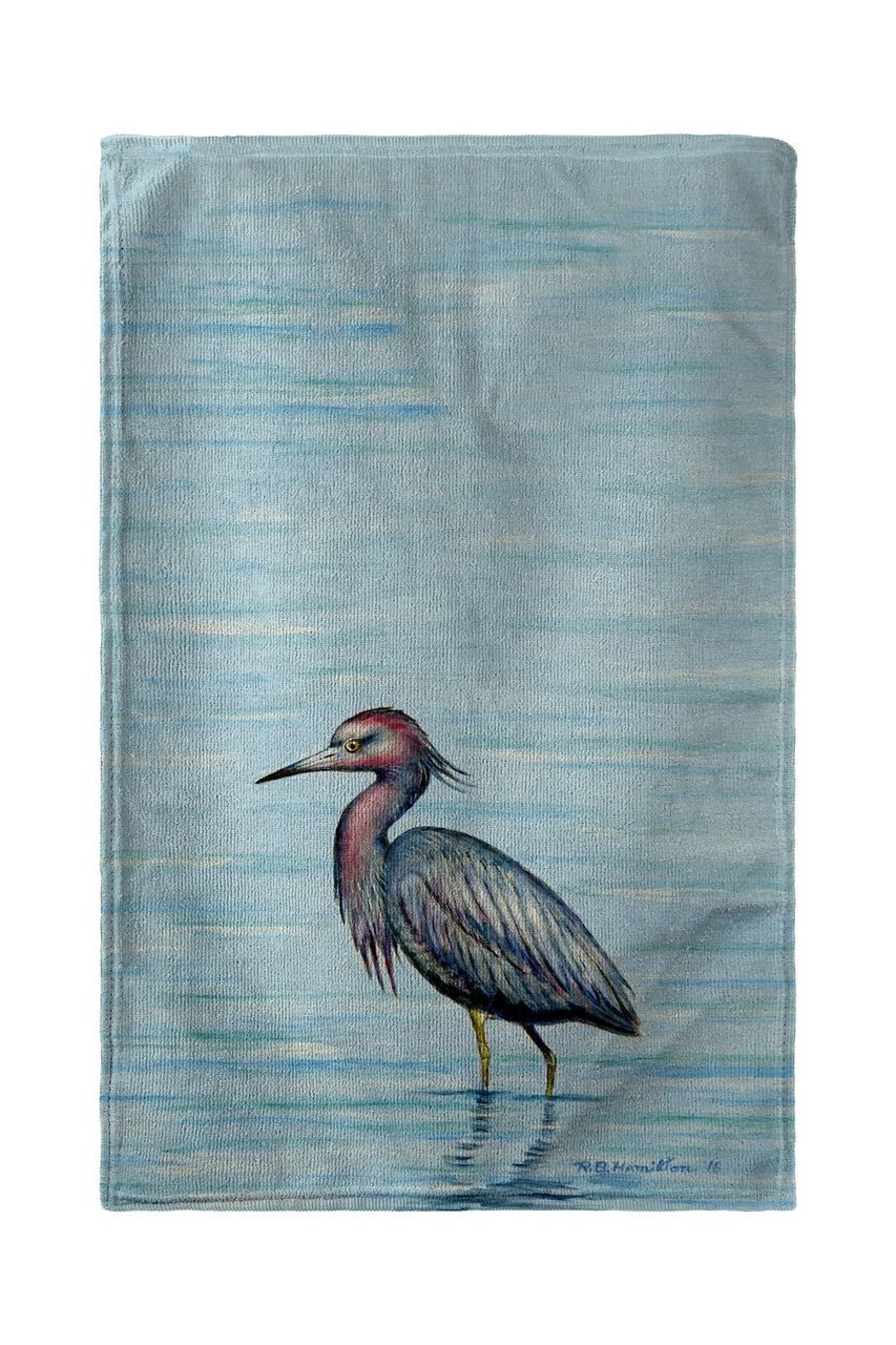 Dick's Little Blue Heron Beach Towel