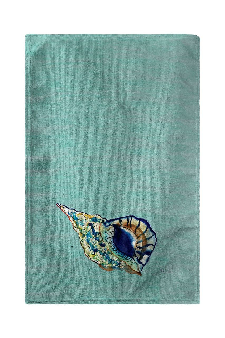 Betsy's Shell - Teal Beach Towel