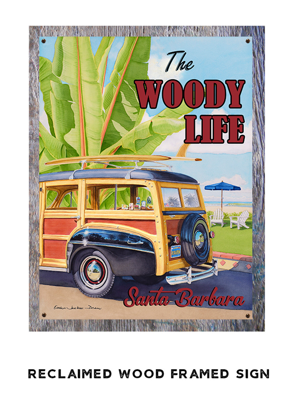 Woody Life Personalized Metal Sign