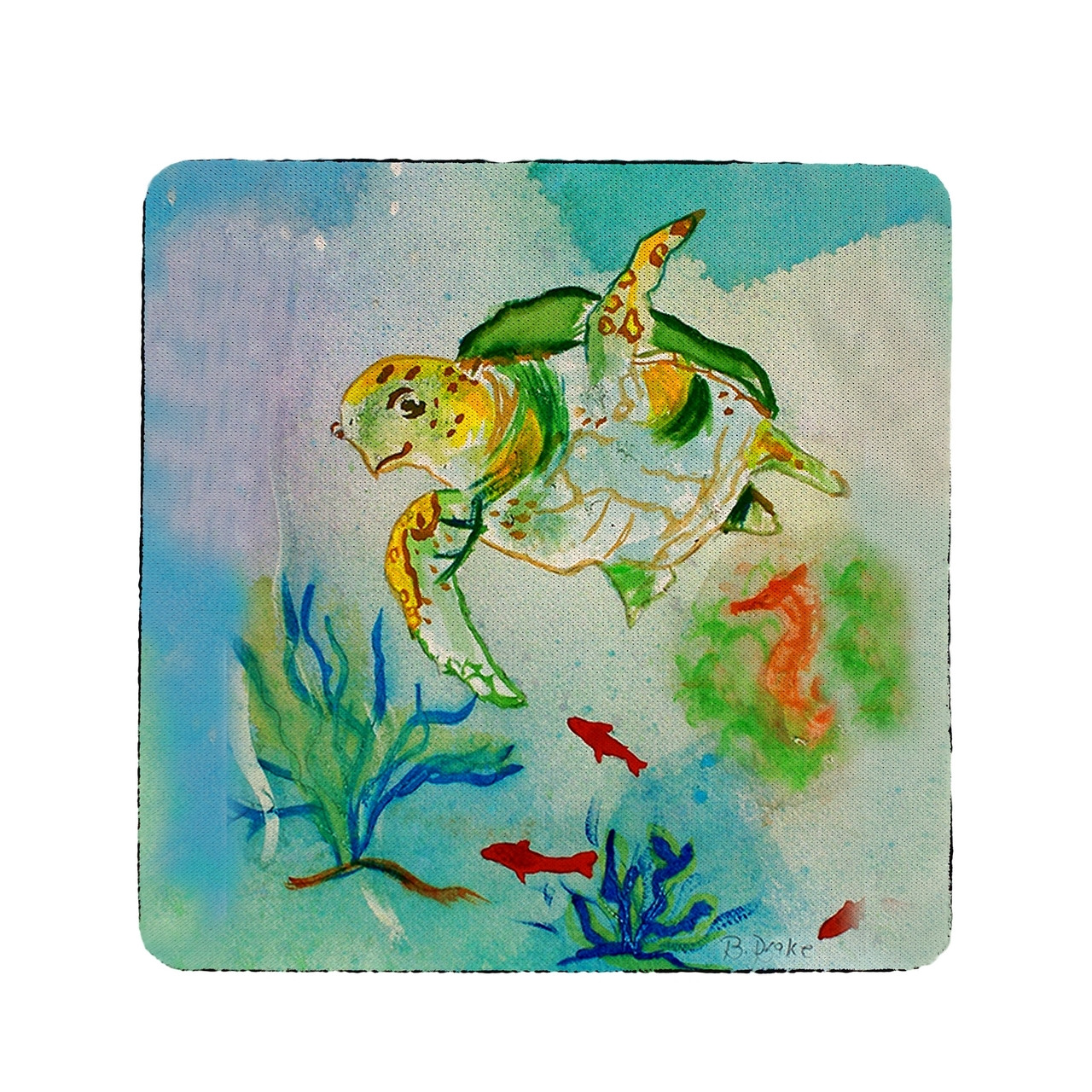 Betsy's Sea Turtle Coasters - Set of 4