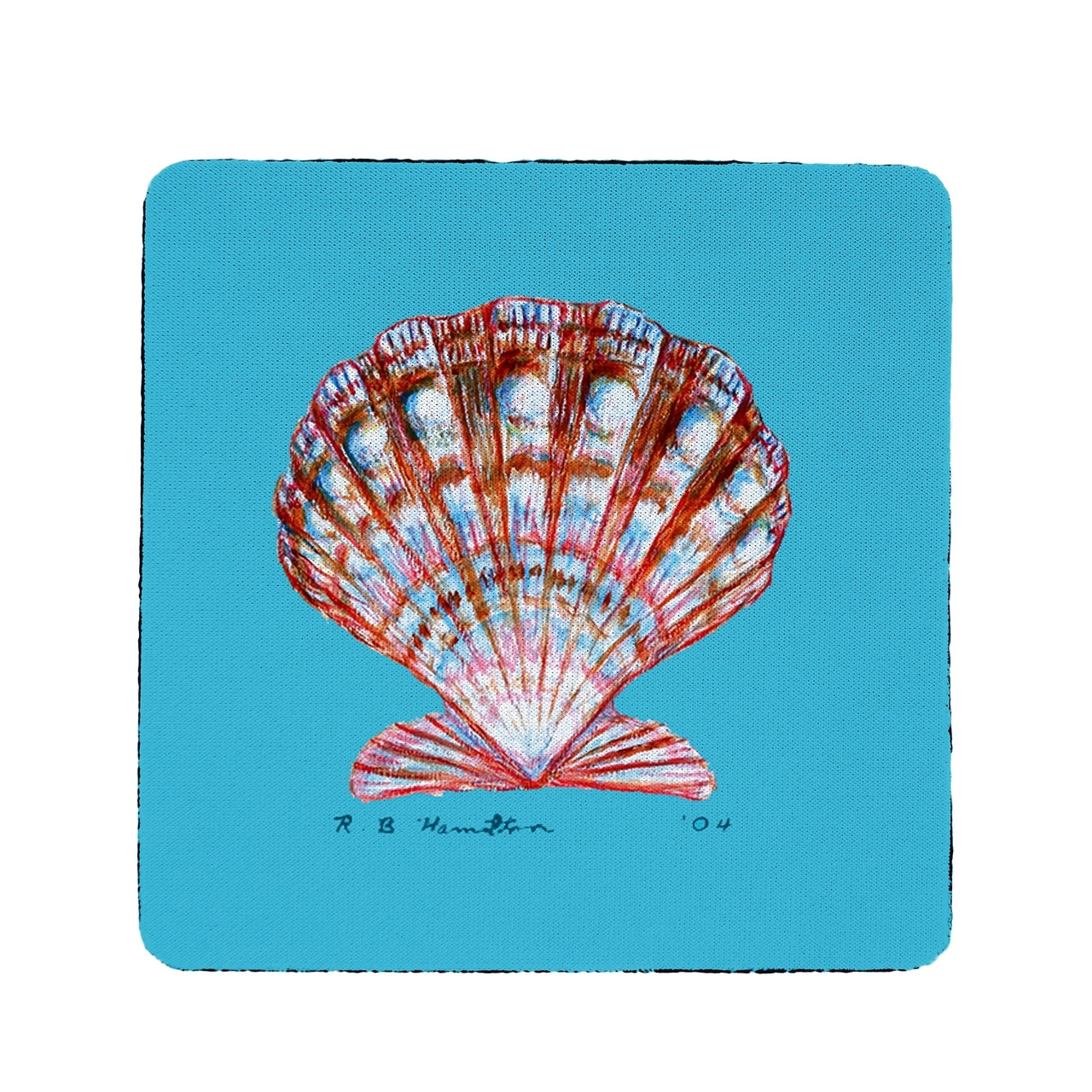 Scallop Coasters - Set of 4