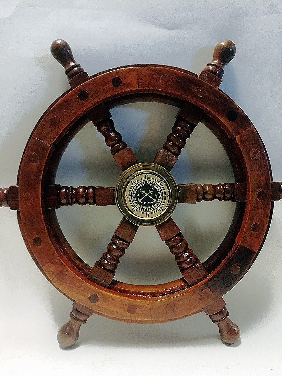 Personalized Wooden Ship Wheel Coat Hanger -  12""