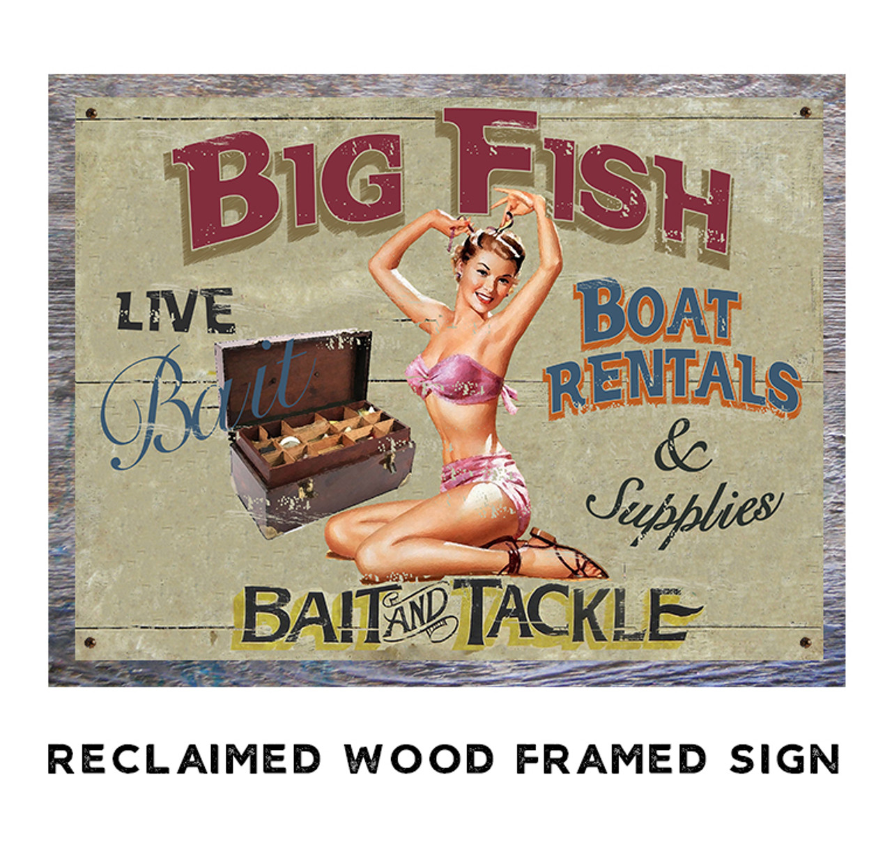 Big Fish Metal Sign