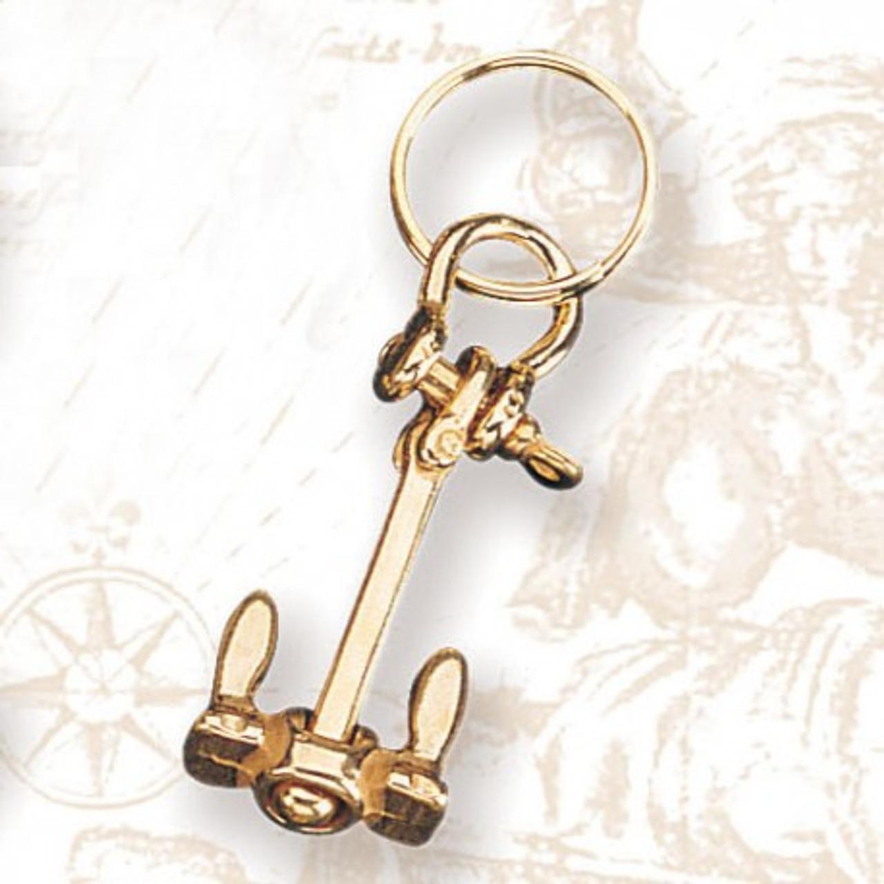 Brass Key Chain - Anchor Chain #3