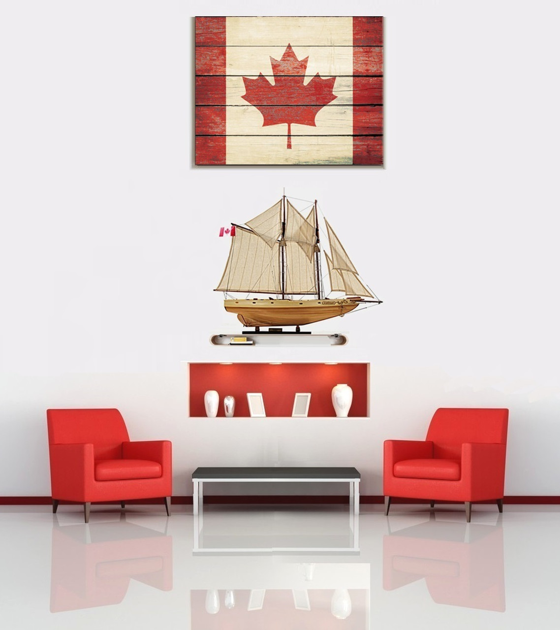 Bluenose II  Model Ship - Assembled -  with Optional Personalized Plaque