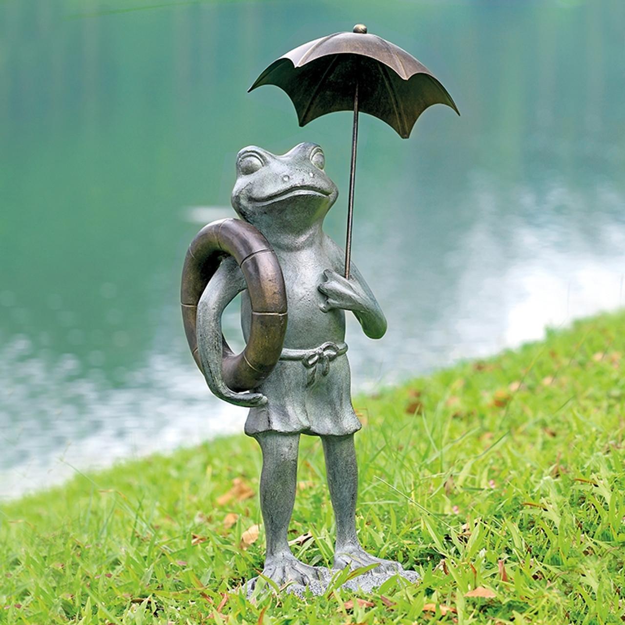 Pool Partner Frog Garden Sculpture