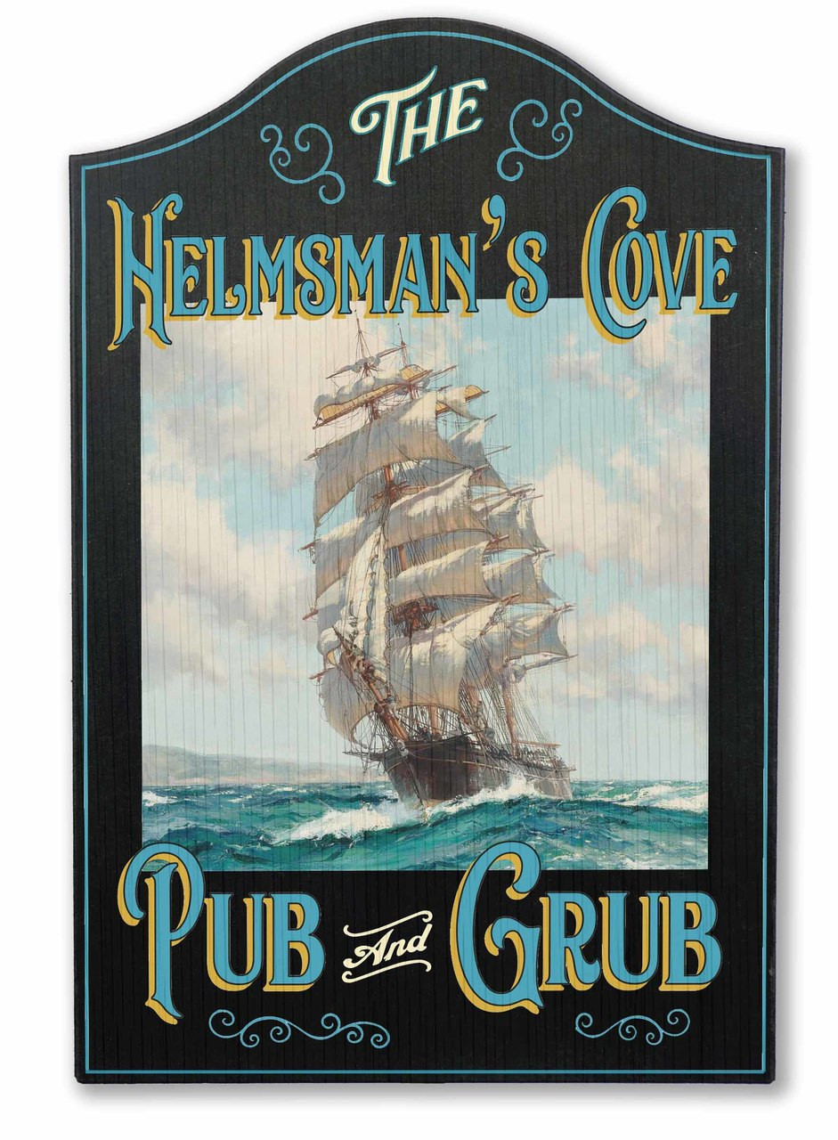 Helmsman's Cove Vintage Sign