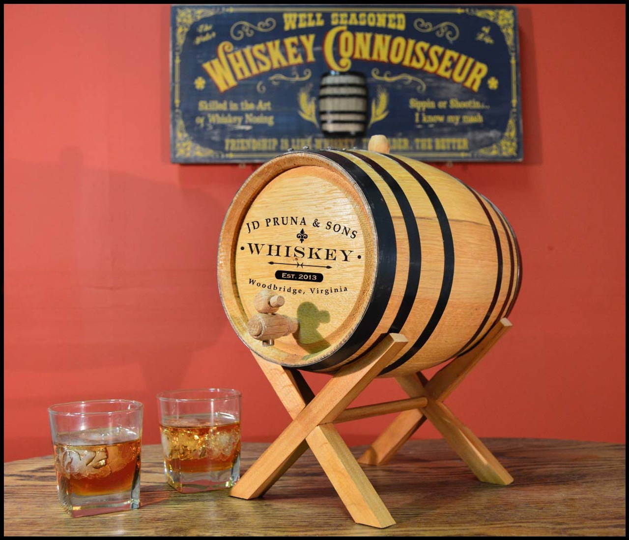 Classic Label Oak Barrel - Personalized