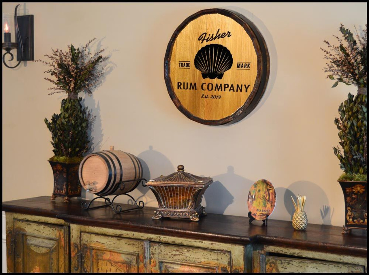 Shell Quarter Barrel Sign - Personalized