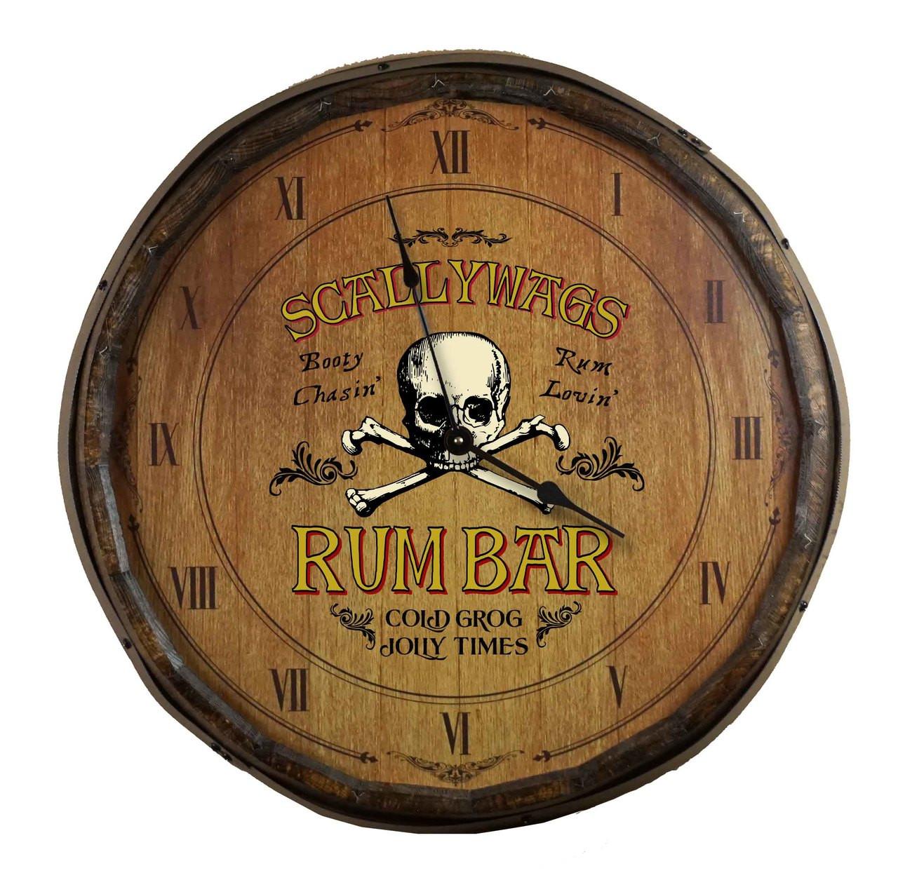 Quarter Barrel Clock - Rum Bar - Personalized