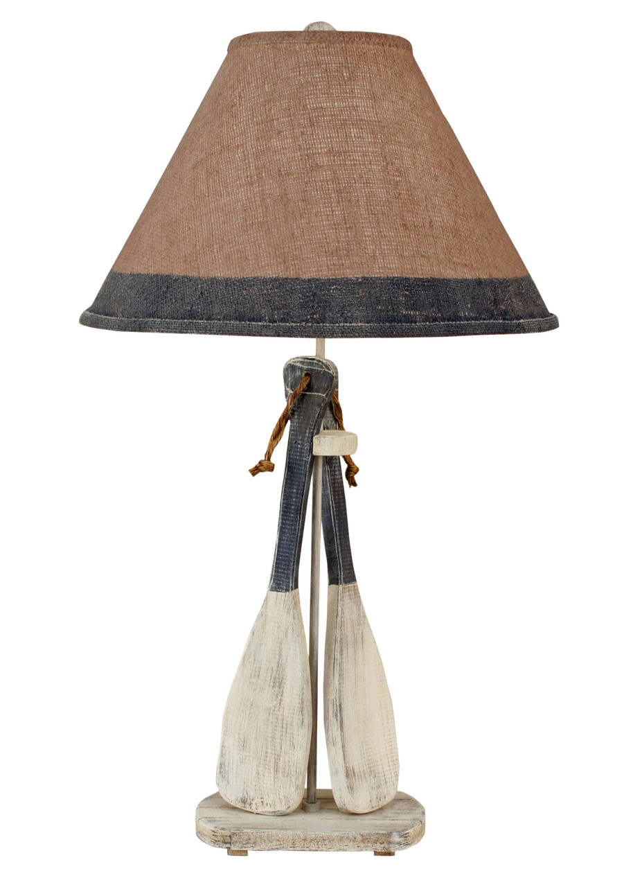 Cottage Navy Paddle with Rope Table Lamp