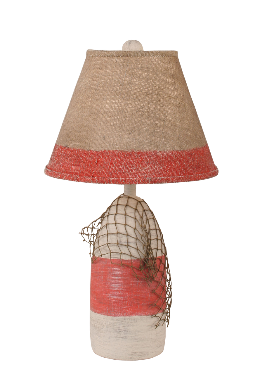 Cottage Classic Red Small Buoy with Net Accent Lamp