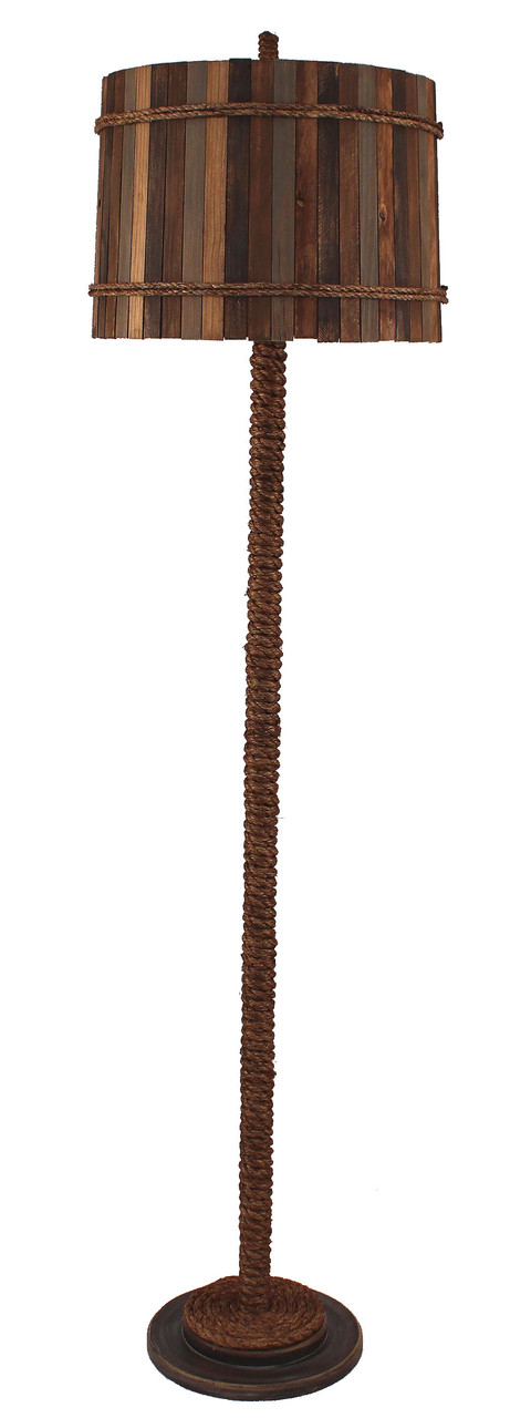 Rope Floor Lamp - Sandalwood