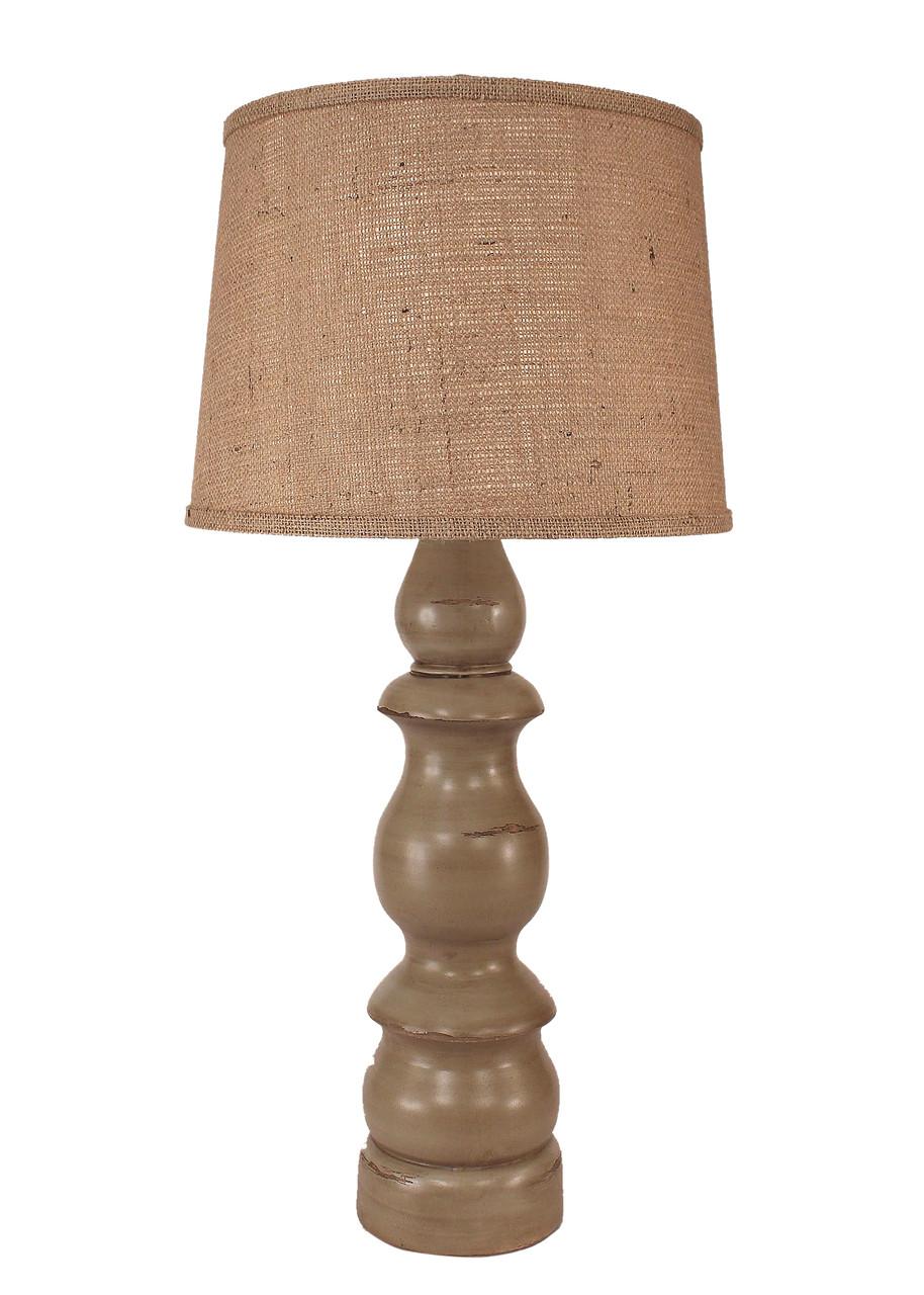 Oyster Shell Farmhouse Table Lamp