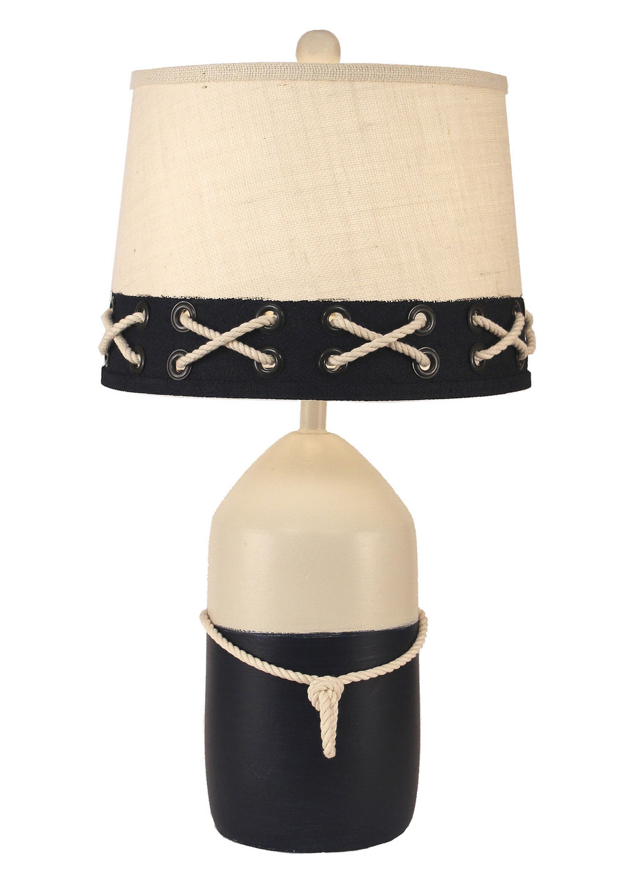 Large Buoy with White Rope Table Lamp