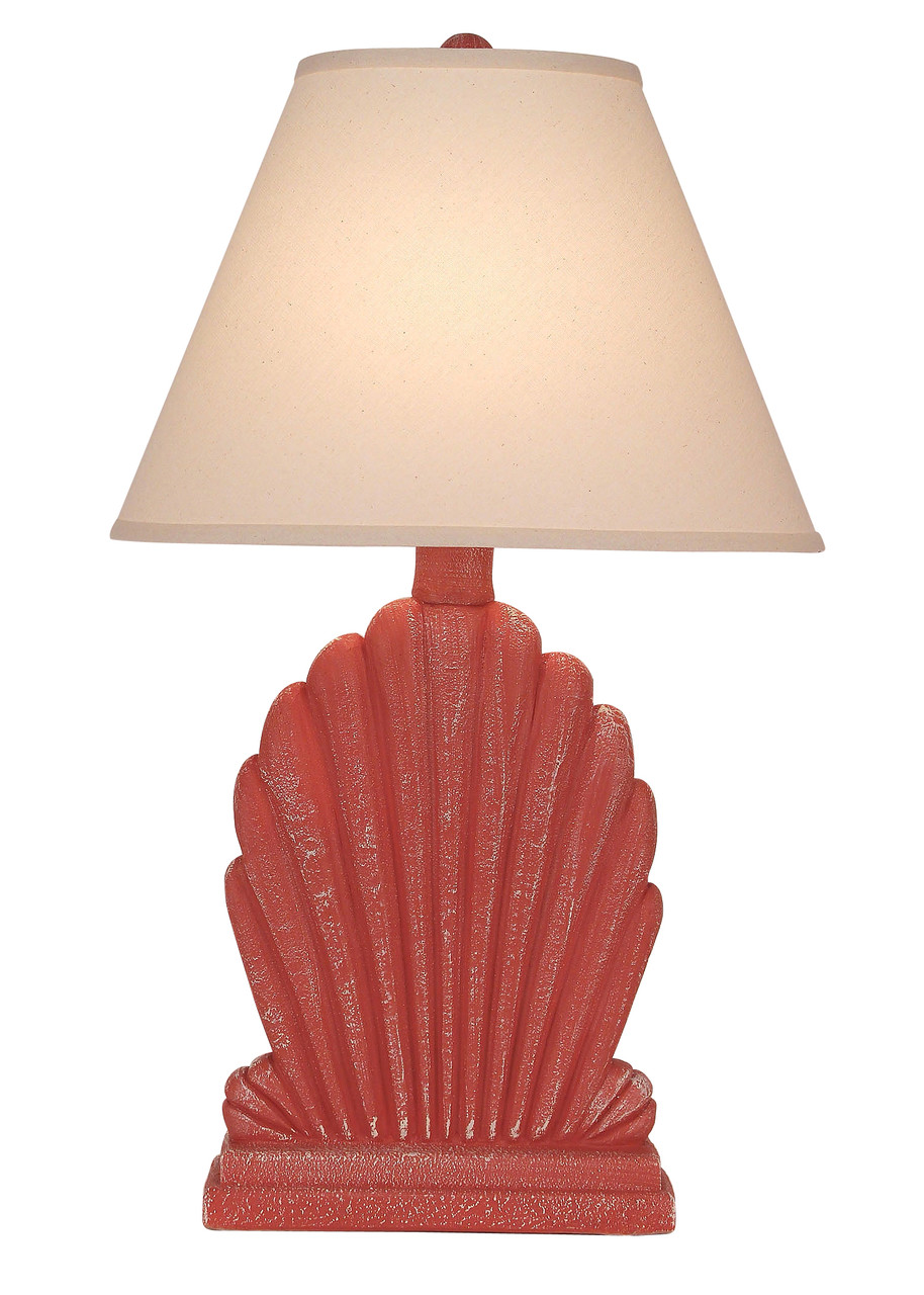 Weathered Shell Table Lamp - Coral