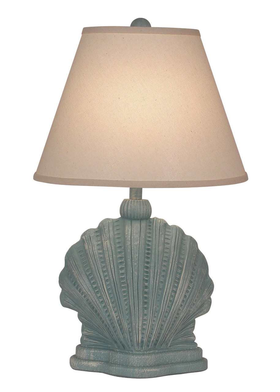 Weathered Mini Scallop Shell Table Lamp