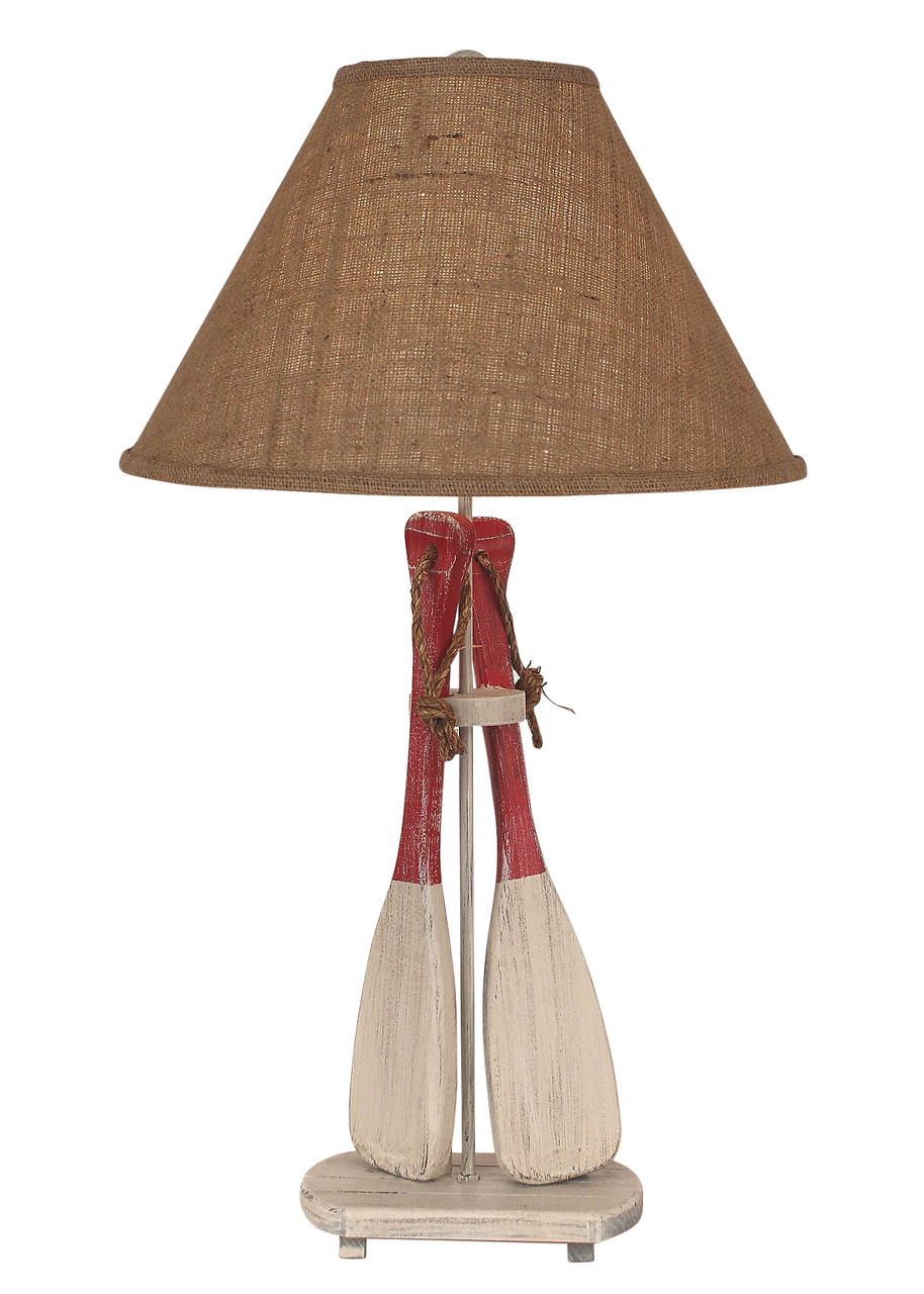 2-Paddles with Rope Table Lamp  - Red