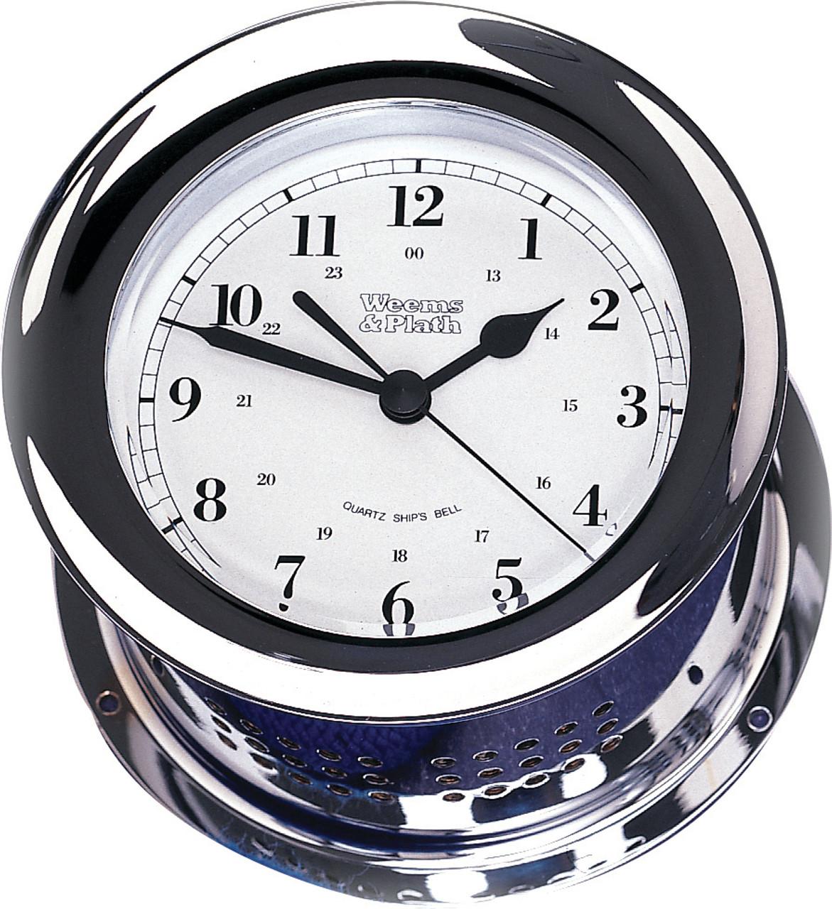 Chrome Plated Atlantis Quartz Clock (220500)