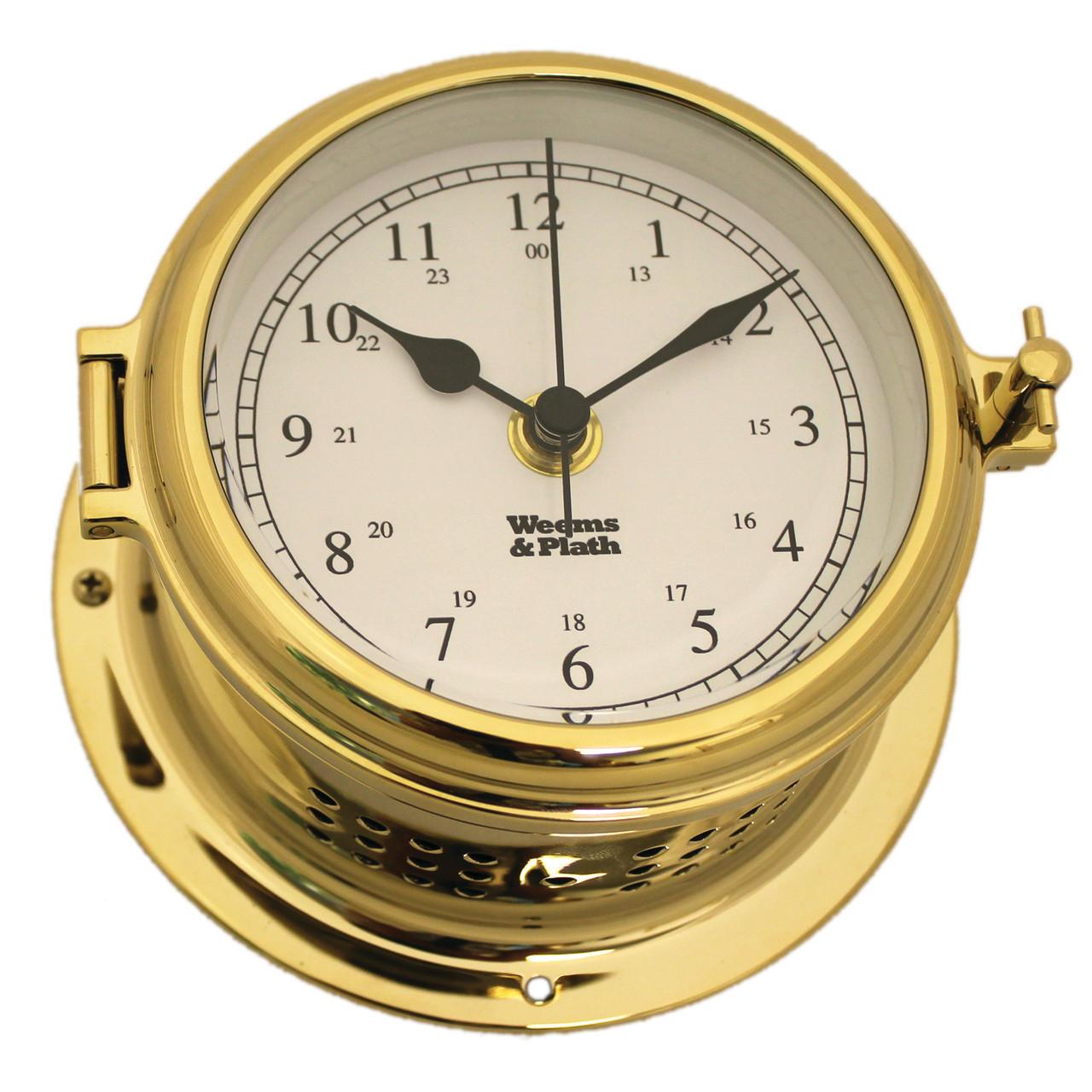 Endurance II 115 Brass Quartz Ship's Bell Clock (510100)