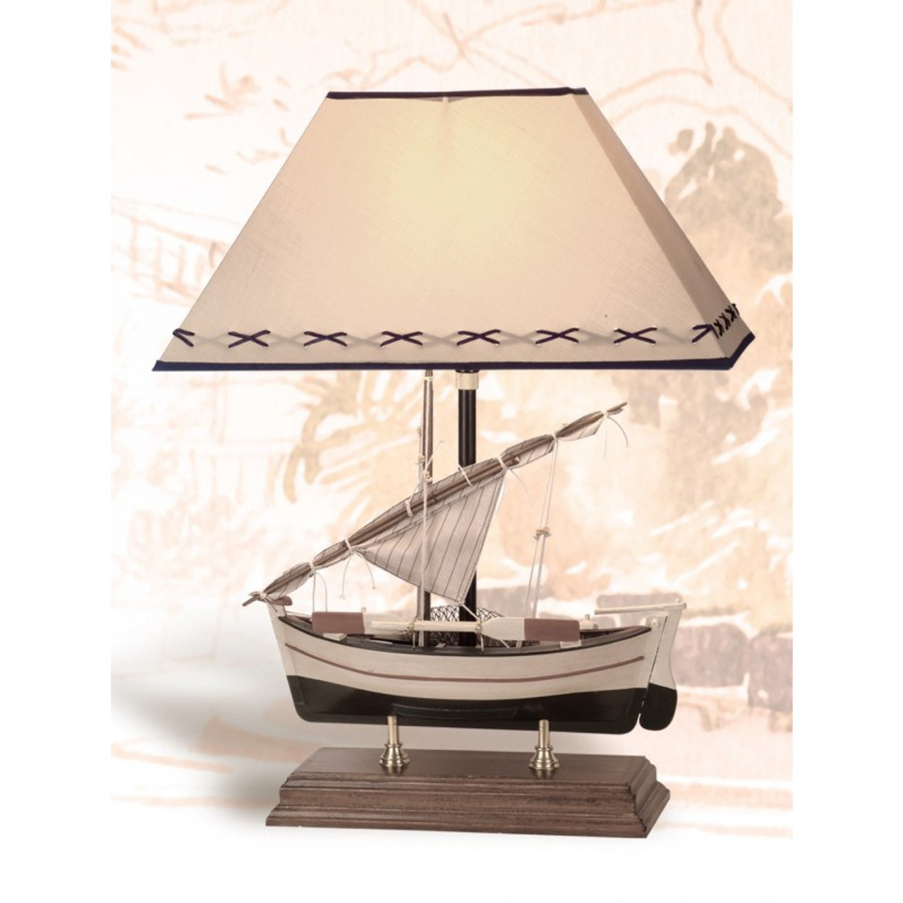 Sailboat Lamp on Stand - 22""