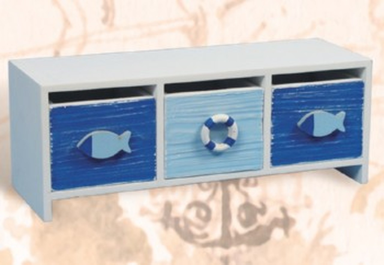 """Fish and Life Ring Drawers - 11"""""""