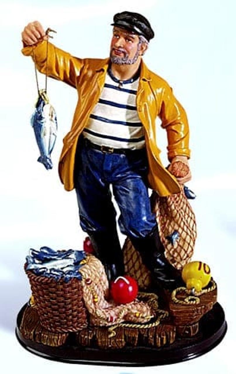 "Polystone Fisherman - 11"""