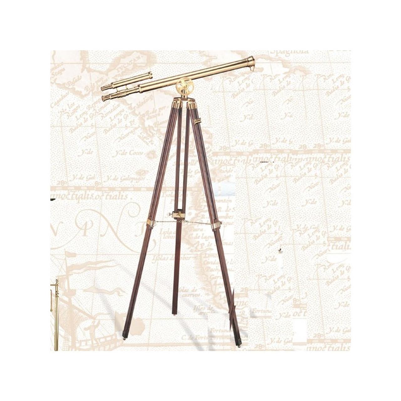"Brass Double Telescope - 42"""