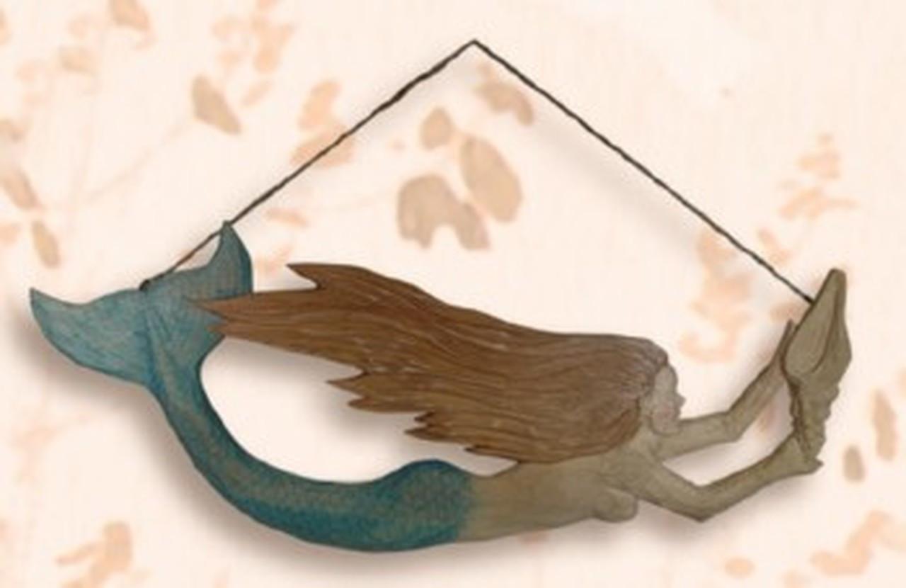 Wooden Mermaid - Blue