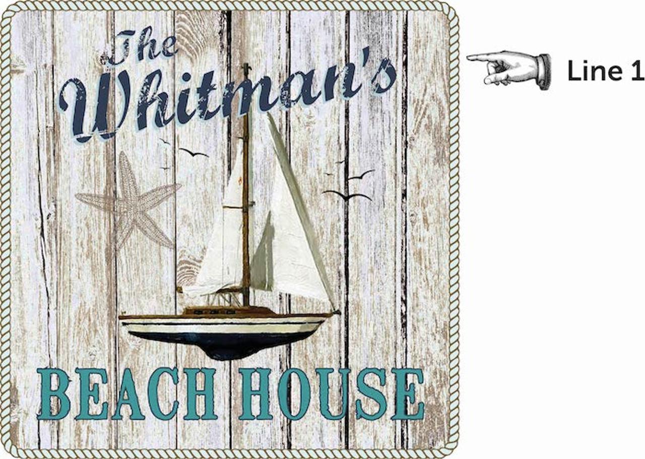 Personalized Dart Board - Beach House