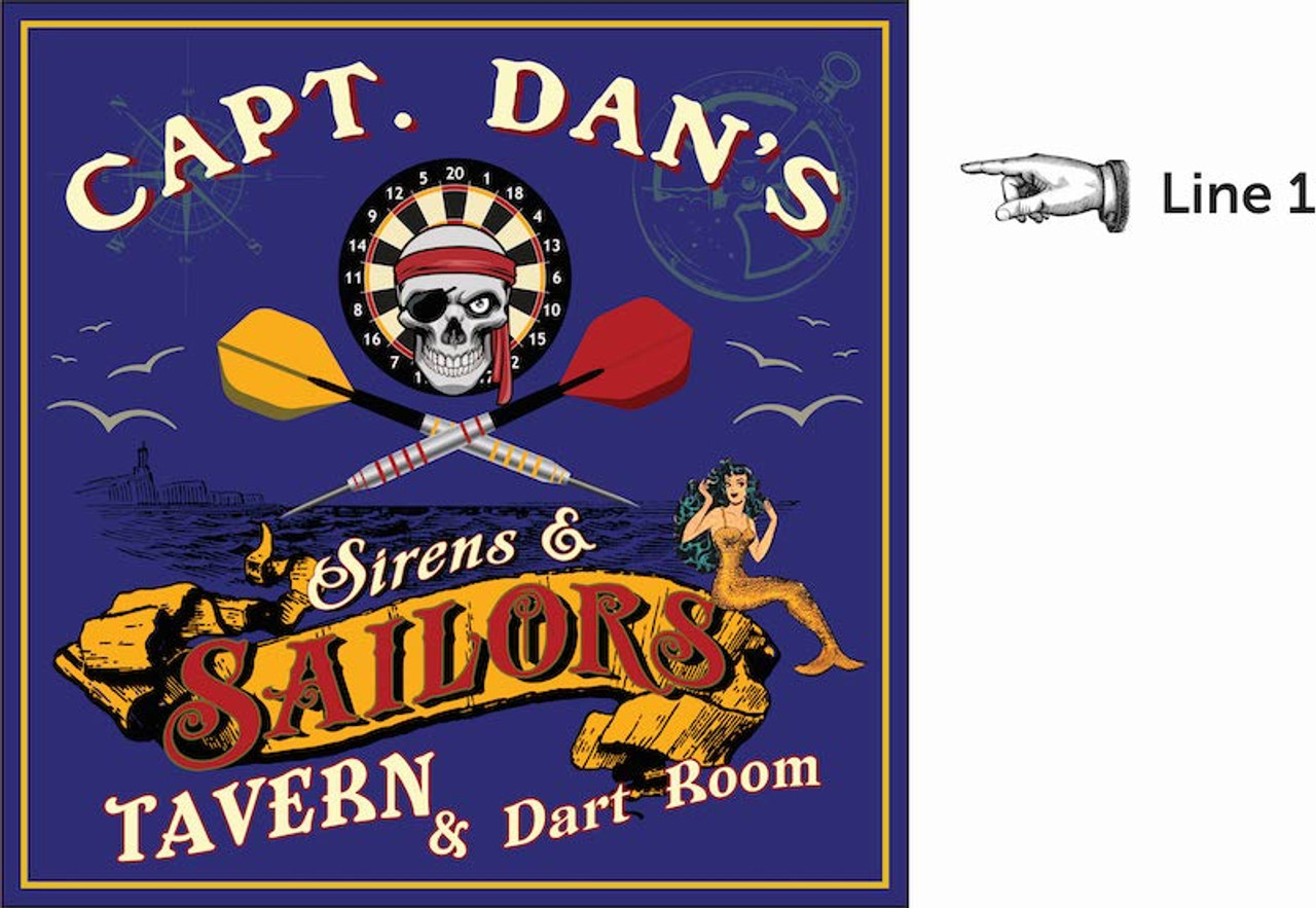 Personalized Dart Board - Sailor's Tavern