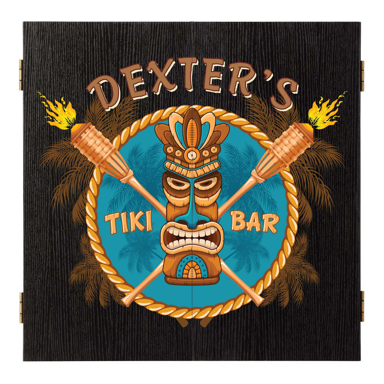 Personalized Dart Board - Tiki Bar
