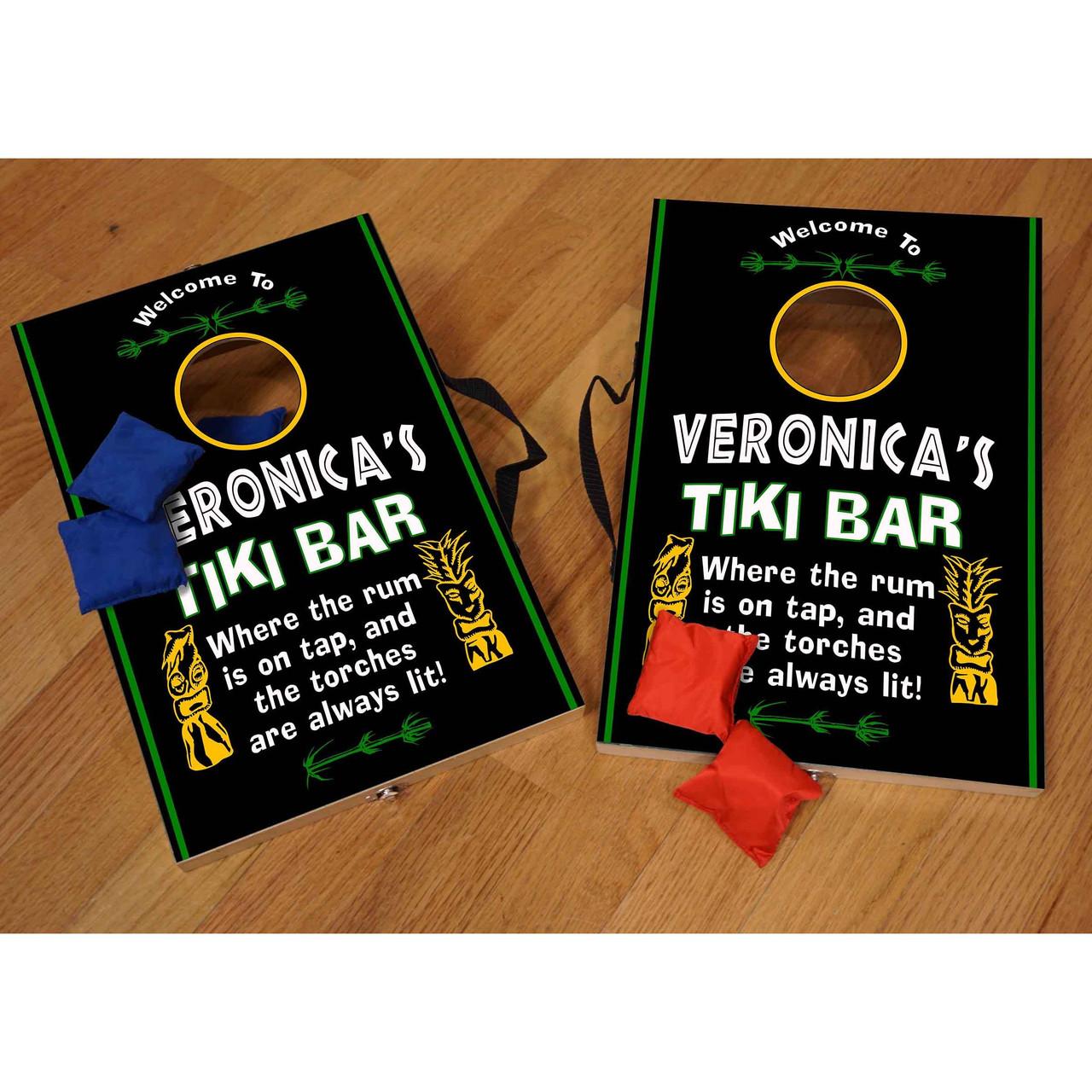 Mini Corn Hole Game - Tiki Bar