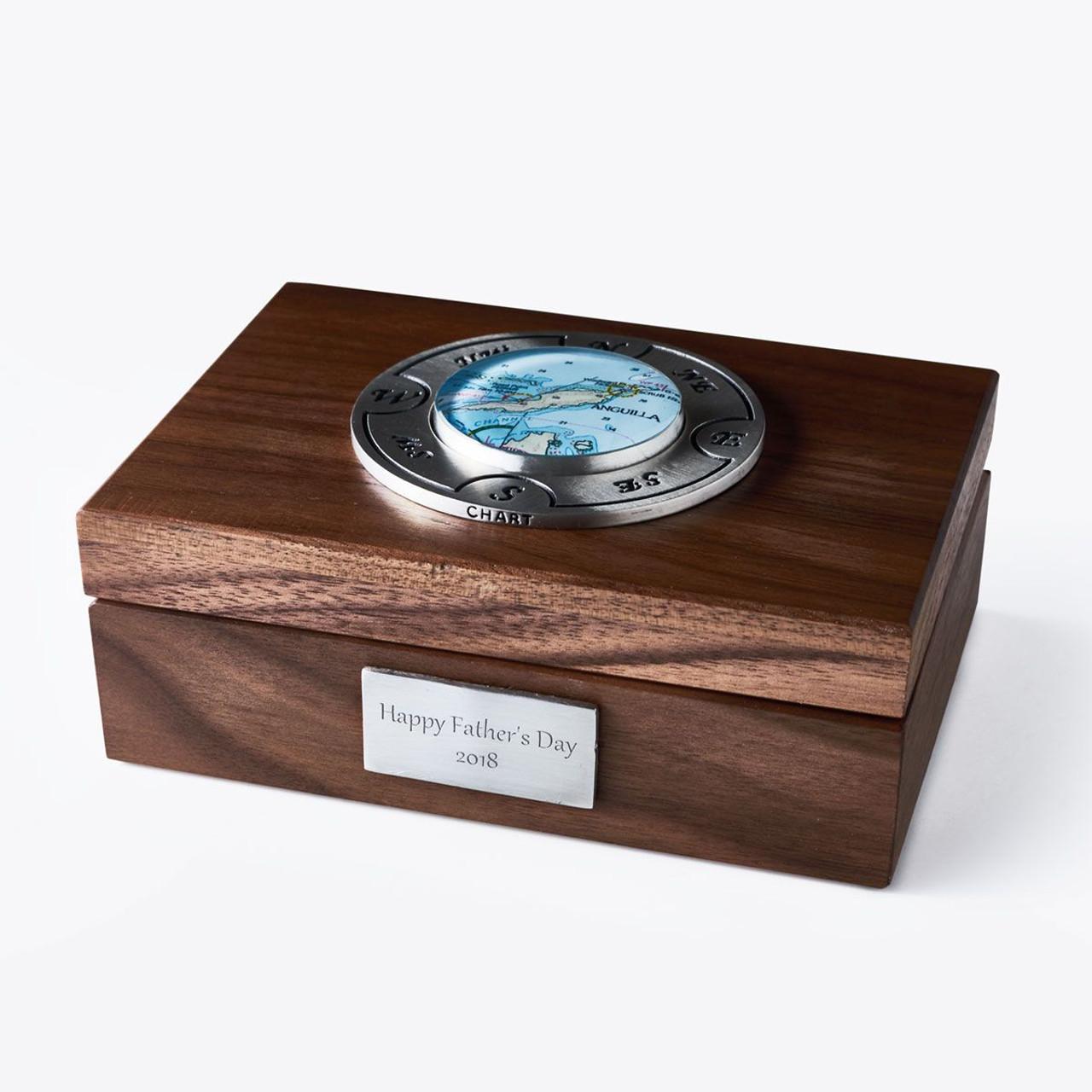 Nautical Map Keepsake Box - Personalized