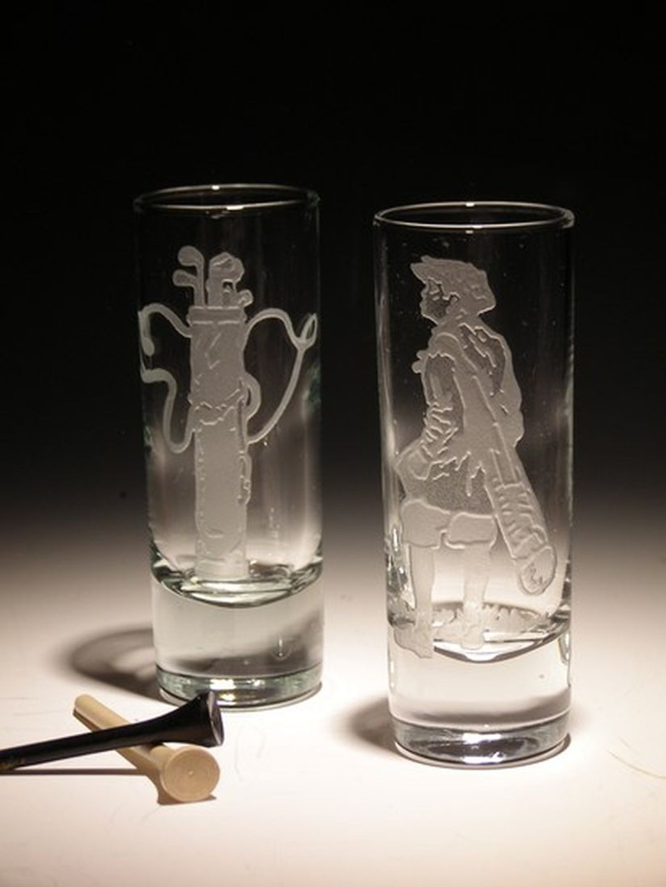 Hand Carved  Crystal Cordial / Shot Glasses - 2oz - Set of 2 - Personalized